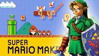 Super Mario Maker - Zelda Ocarina of Time Water Temple Course & TheBearGamer