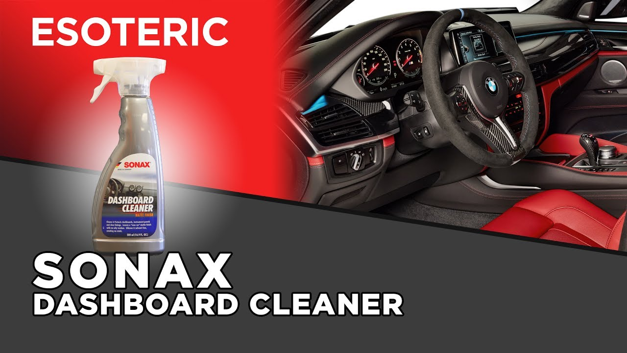 Sonax Dashboard Cleaner Review Esoteric Car Care