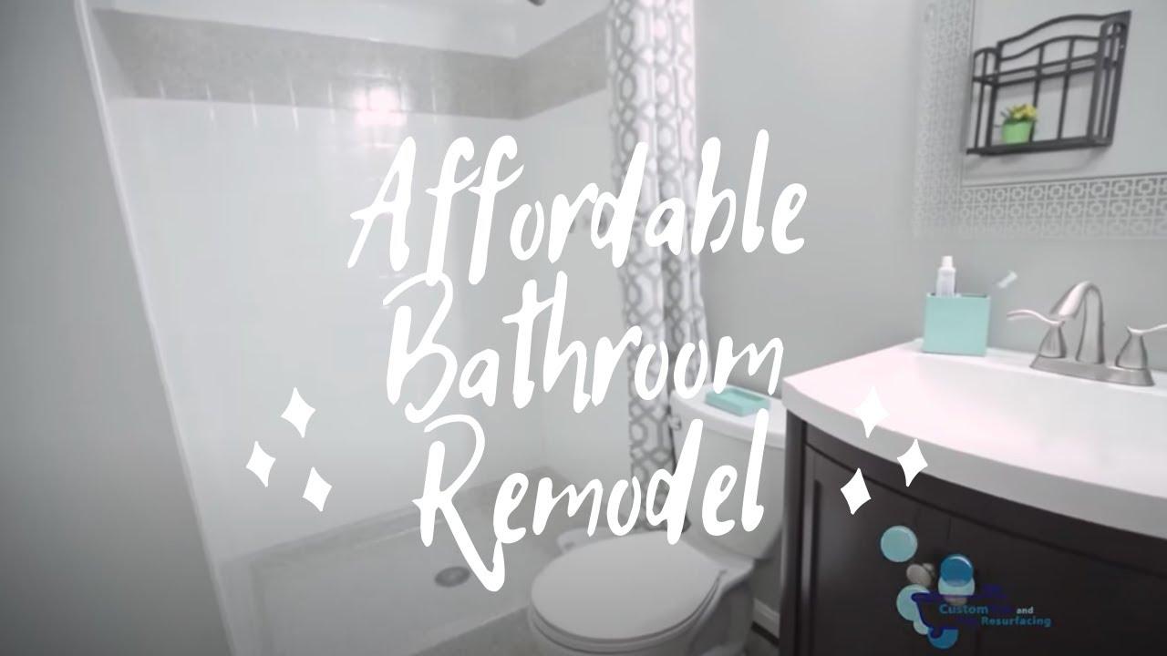 Affordable Bathroom Remodel - YouTube