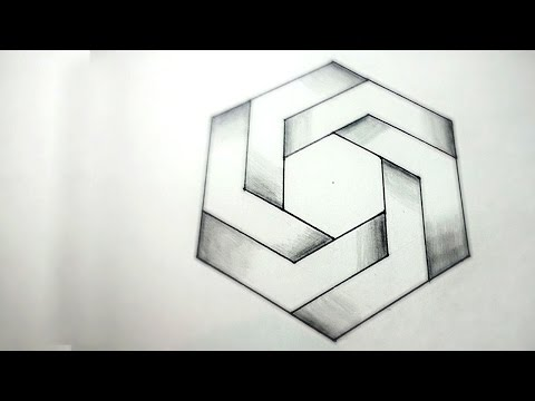 How To Draw An Impossible Square - 3D Square - Impossible Shapes ...
