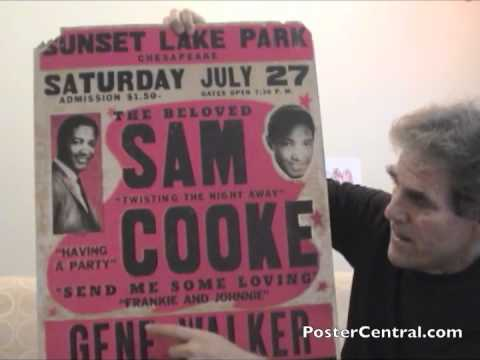 Sam Cooke Concert Posters 1950s-1960s Old R&B Window Cards