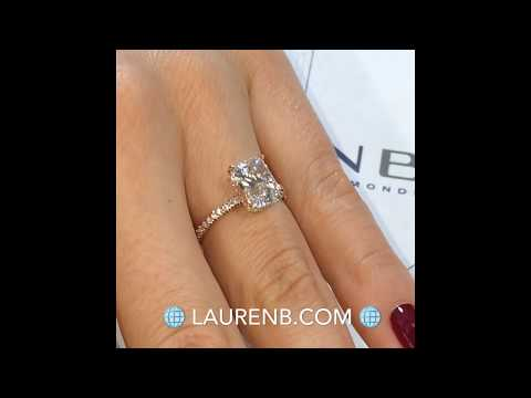 2 Ct Radiant Cut Diamond Rose Gold Engagement Ring