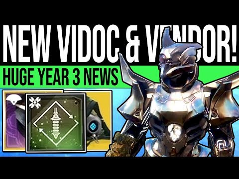Destiny 2 | HUGE DLC REVEAL & LECTERN VENDOR! End Game, Ordeal Mode, Dungeon Boss, Exotics & Year 3!