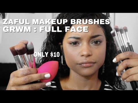82f0c2421cabb5 GRWM USING $10 ZAFUL MAKEUP BRUSHES ??? || ARIANA.AVA - YouTube