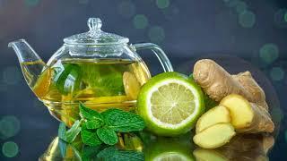Зеленый чай с лаймом, мятой и имбирем