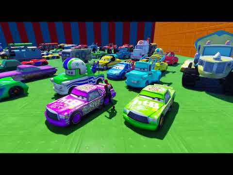 Disney Cars 3 Cruz Ramirez Color Learning With McQueen Colors Jackson Storm Cars 3 Miss Fritter Mack