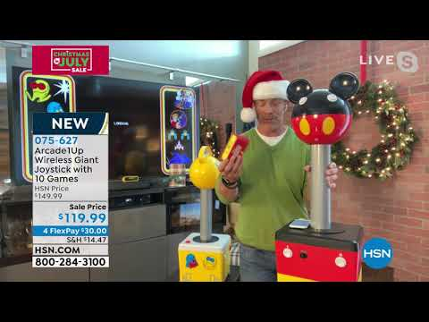 Arcade1Up Wireless Giant PacMan Joystick with 10 Games from HSNtv