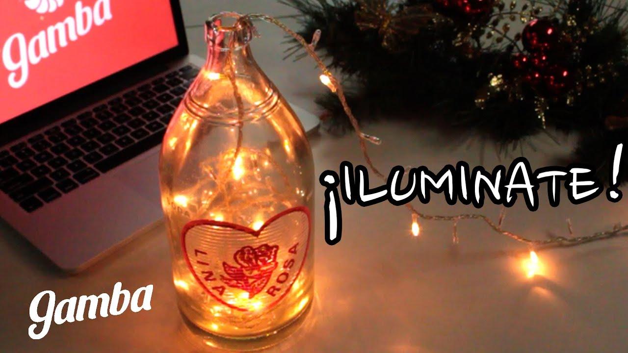 C mo reciclar botellas de vidrio 1 l mpara para navidad - Como cortar botellas de vidrio ...