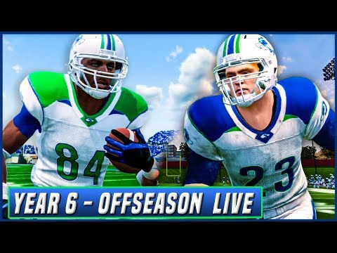 Year 6 OFFSEASON LIVE! (HOUR + PRACTICE GAMEPLAY) NCAA Football 14 Dynasty   Ep.107