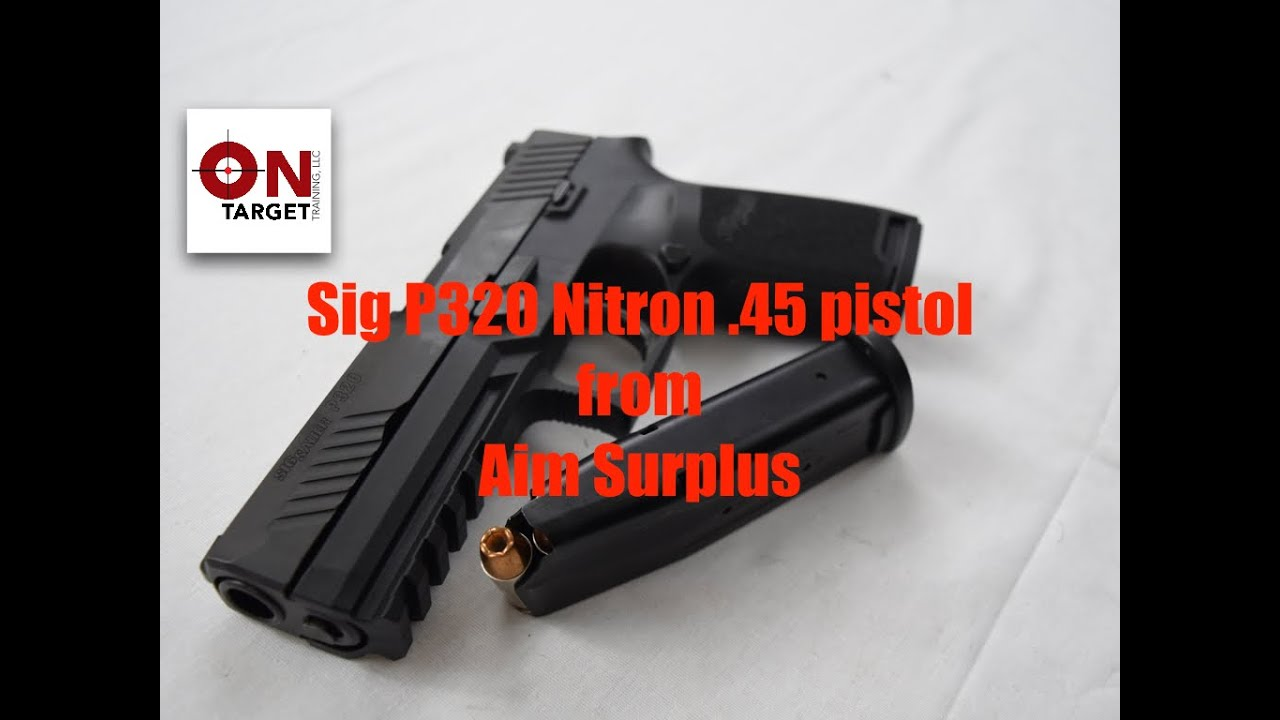 Sig P320 Nitron  45 Table Top
