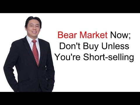 Adam Khoo - Bear Market Now; Don't Buy Unless You're Short-selling