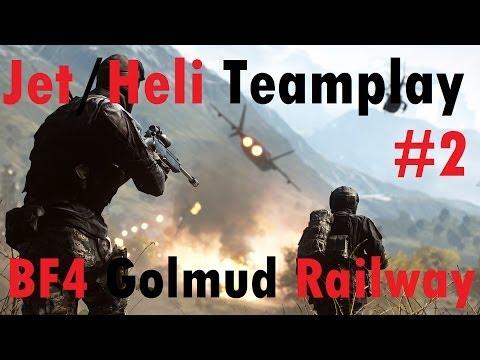 BF4 Jet & Heli Pro Teamplay HD #2 (143-6) | Turbopummel & Whitevalox | Golmud Railway