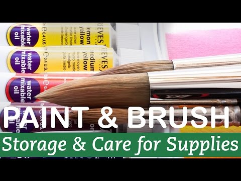 How to Store and Care for Paint and Brushes   LittleArtTalks