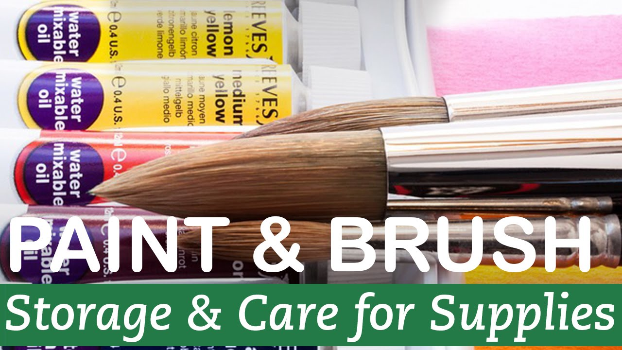 How to Take Care of Paint and Brushes
