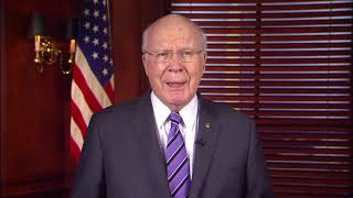 Senator patrick leahy delivers the weekly democratic address