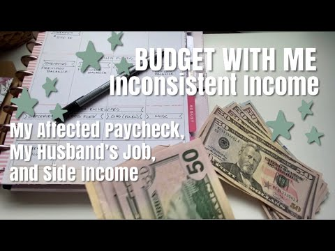 BUDGET WITH ME - Inconsistent Income, Side Hustle And Husband's Job Explanation (Finally) | Chatty!