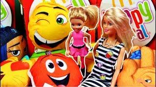 Barbie i Chelsea • Happy Meal z Emotkami • Emotki Film & Zabawki z McDonalds • Bajki i unboxing