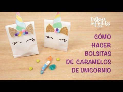 f02fe6b07 CÓMO HACER BOLSITAS DE CARAMELOS DE UNICORNIO - Talleres infantiles BCN   Fiestas  infantiles originales