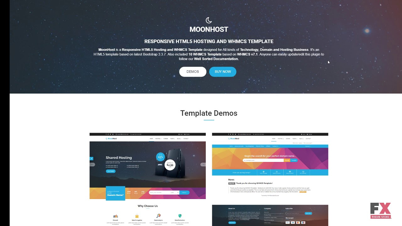 MoonHost - Responsive HTML5 Web Hosting with WHMCS Website Template ...