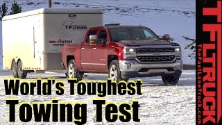 2017 Chevy Silverado 1500 6.2L V8 vs Ike Gauntlet Review: World's Toughest Towing Test