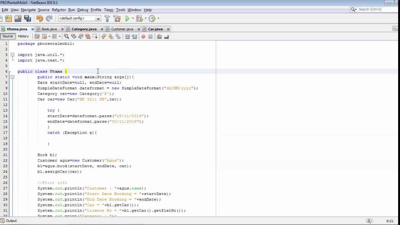 Implementasi class diagram rental mobil pada java youtube implementasi class diagram rental mobil pada java ccuart Image collections