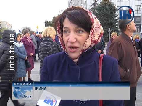 Телеканал ІНТБ: День захисника України розпочали з молитви та спільного виконання гімну ОУН
