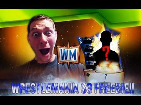 WRESTLEMANIA 33 FREEBIE!! WWE SUPERCARD #118!!