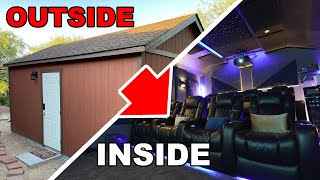 I Turned A Boring Shed into An Epic Dolby Atmos Home Theater Tour