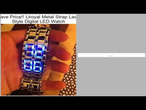 Liroyal Metal Strap Lava Style Digital LED Watch Review