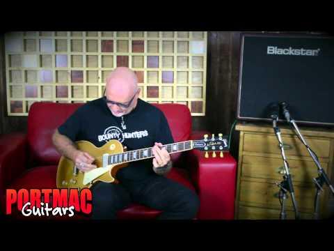Port Mac Guitars Gibson Les Paul Deluxe Gold Top 2015 Demo