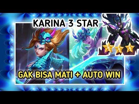 KARINA ⭐⭐⭐ BINTANG 3 GAK BISA MATI = AUTO WIN - MAGIC CHESS BANG BANG INDONESIA - 동영상