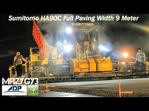Awesome Airport Asphalt Paving Sumitomo HA90C HA60C