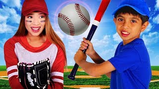 Joseph Teaches Auntie How to Play Baseball!