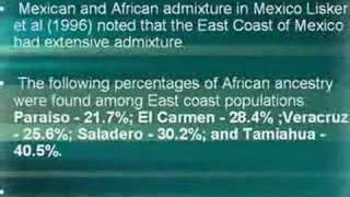African Mexican genetic Admixture