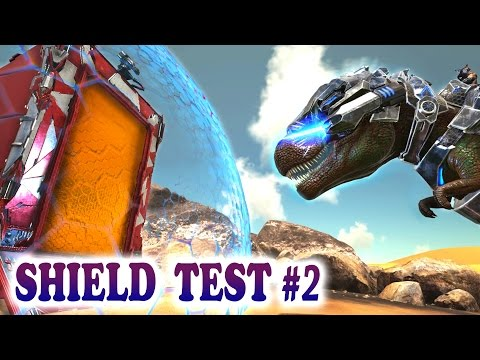 ARK TEK SHIELD TEST 2 REX LASER vs SHIELD & MUCH MORE! Ark Survival Evolved