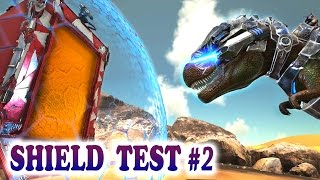 ARK TEK SHIELD TEST 2 REX LASER vs SHIELD & MUCH MORE! Ark Survival Evolved