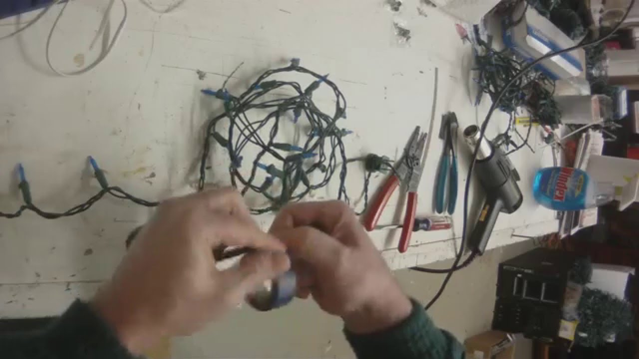 Cutting LED Christmas Lights Strings - YouTube