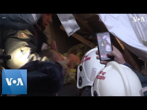 Rescuers Pull Baby Alive from Russian Block After Gas Blast