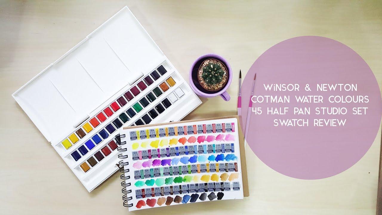 Winsor /& Newton Cotman Watercolor Studio Set 45 Half Pans
