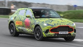 Aston Martin DBX Prototype Drifting and being tested around track 2019