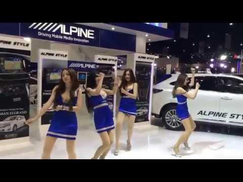 Alpine Girls Dancing Awkwardly @ The 36th Bangkok International Motor Show in Thailand