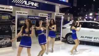 Alpine Girls Dancing Awkwardly @ The 36th Bangkok International Motor Show in Thailand
