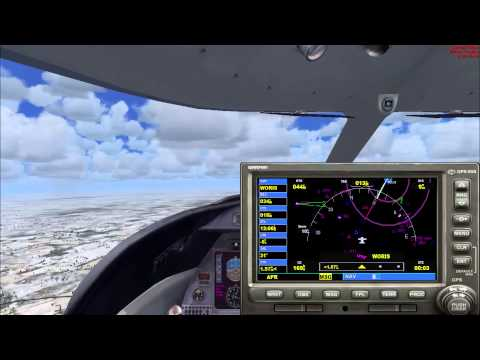 FSX - Multiplayer ATC Approach and Landing into Greater Rochester (Real ATC)