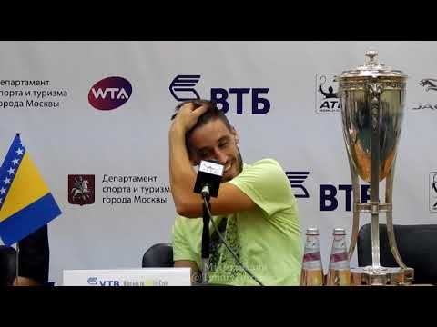 Damir Dzumhur. Champion's press conference in Moscow 22.10.17