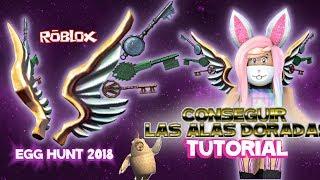 Como obter as asas do jogador pronto evento um tutorial Egg Hunt 2018 Roblox em espanhol