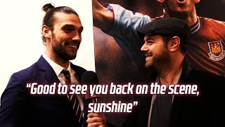 ANDY CARROLL AND DANNY DYER REACT TO WONDER GOAL AGAINST STOKE