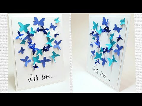 butterfly-greeting-card-design-making-ideas-tutorial-easy-for-friend,-for-mom-/-diy-birthday-card