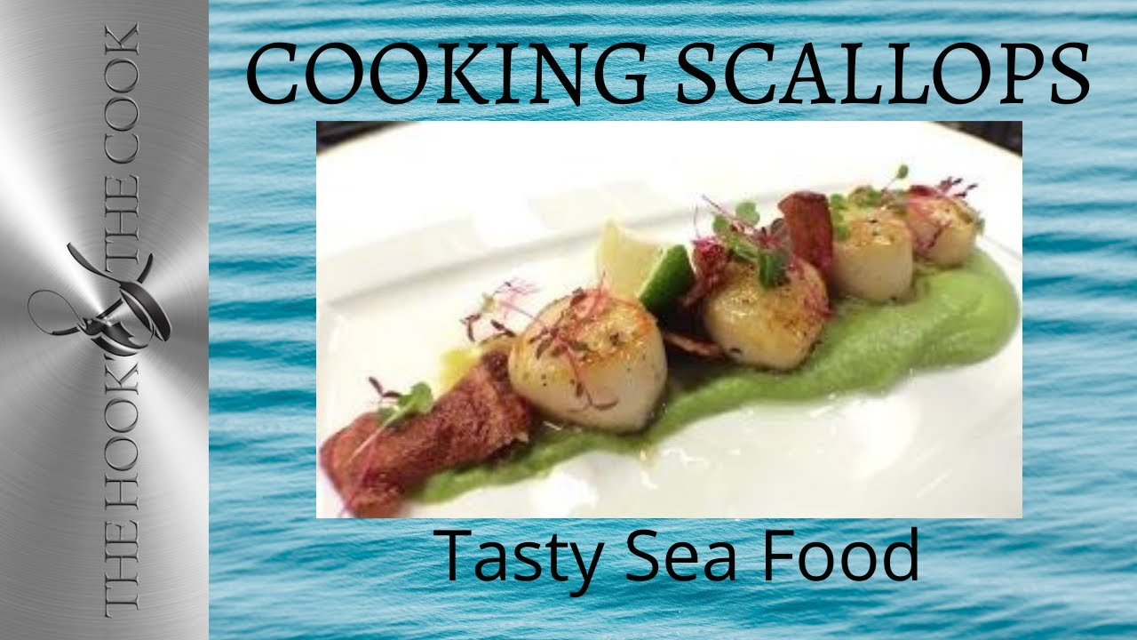 Recipe: Scallops with pea puree and Beetroot chips ...