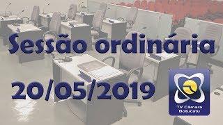 Sessão ordinária 21/05/2019