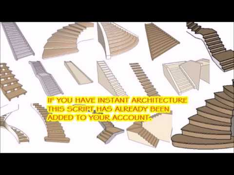 Instant Stair   SketchUp Extension Warehouse
